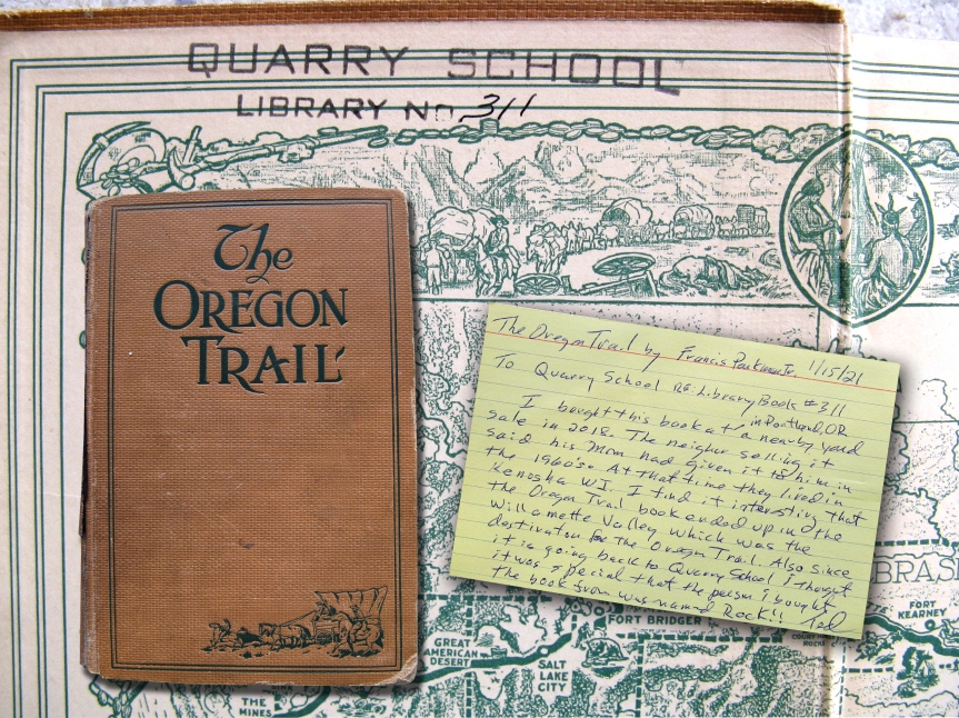 Quarry School book travels to Willamette Valley, Oregon, and back to Wisconsin more than 100 years after its publishing date of 1912